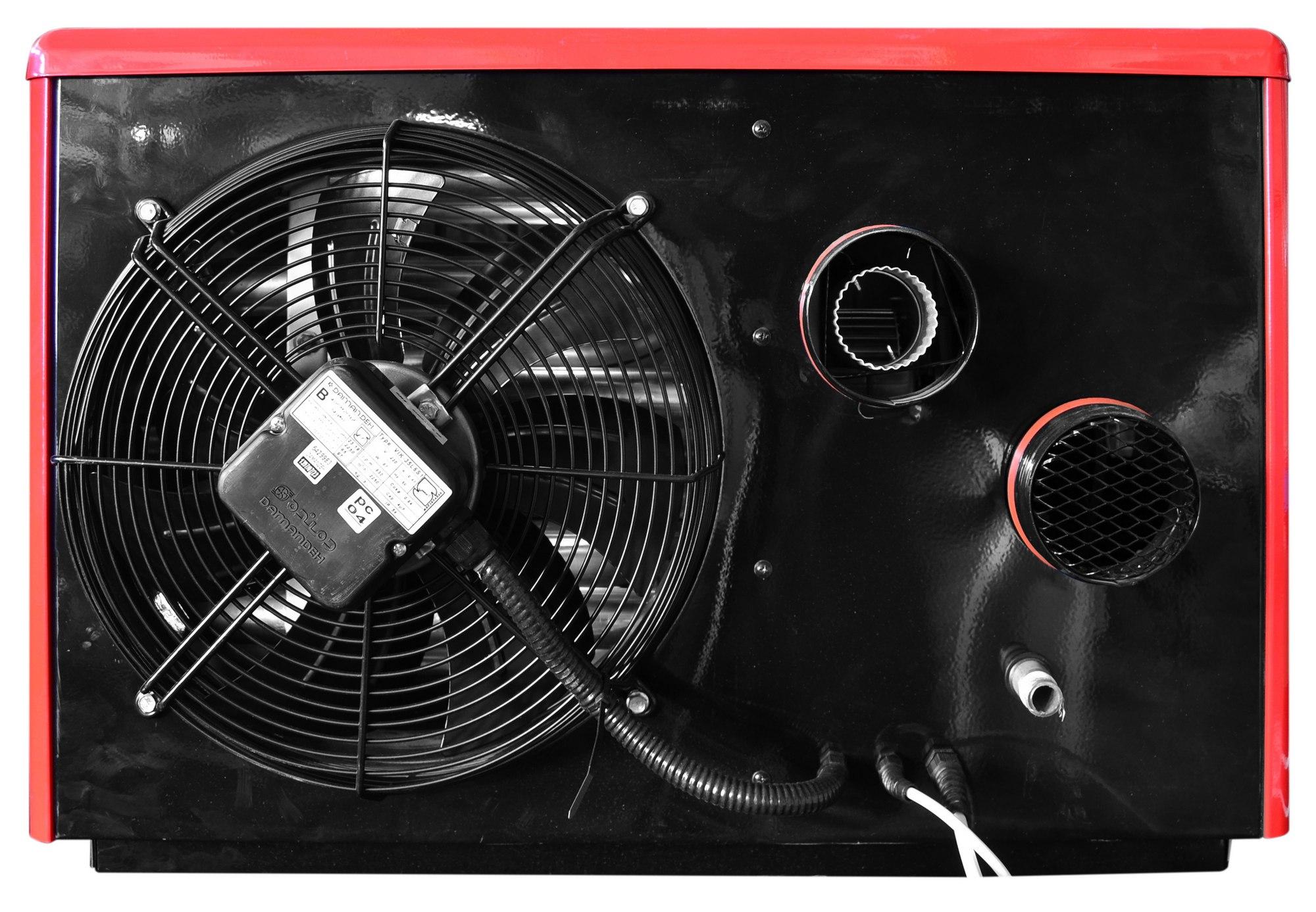 Nagrzewnica powietrza 26 kW czerwona
